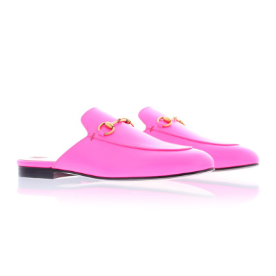 Gucci Flat Shoes Gucci princetown neon