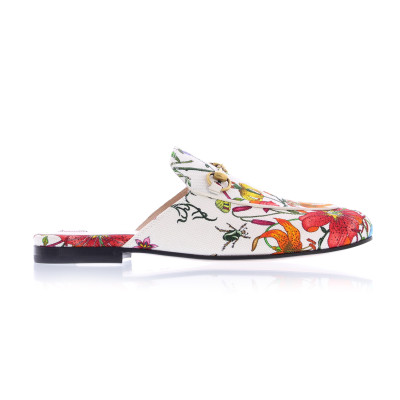 Gucci Flat Shoes Gucci princetown canvas flora